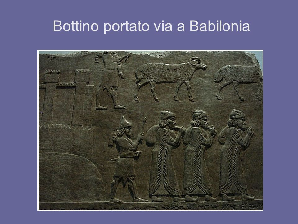 Bottino portato via a Babilonia