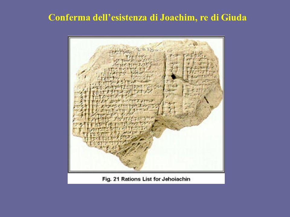 Conferma dell'esistenza di Joachim, re di Giuda