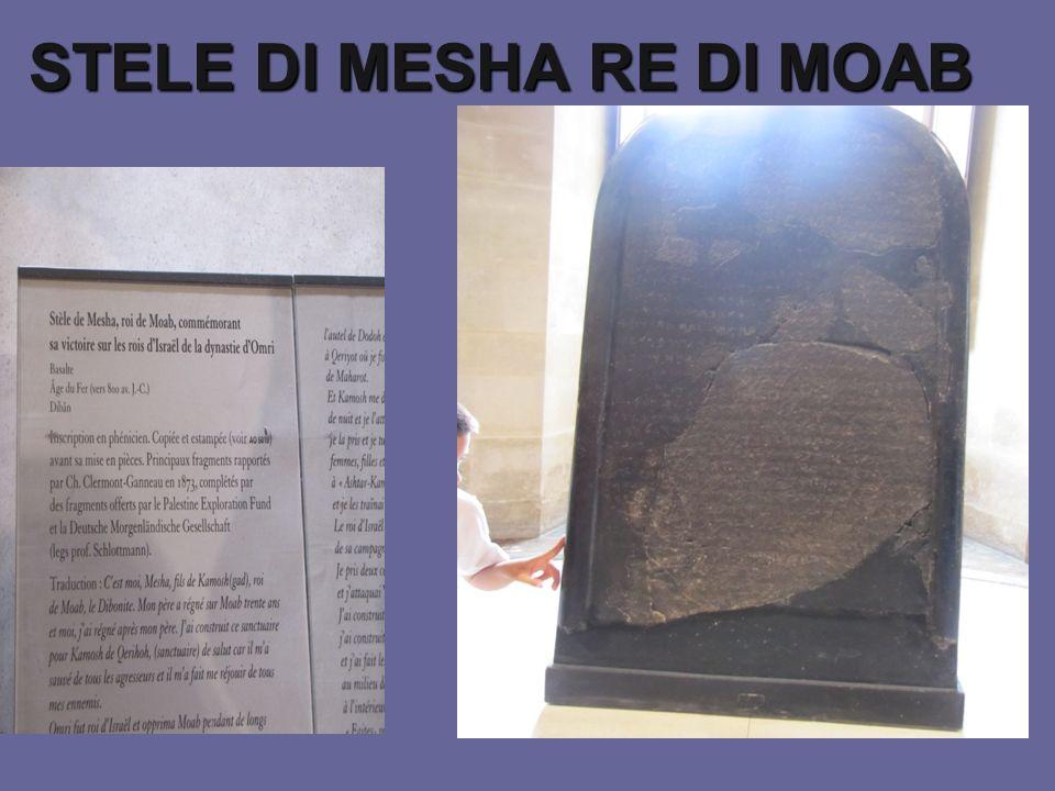 STELE DI MESHA RE DI MOAB