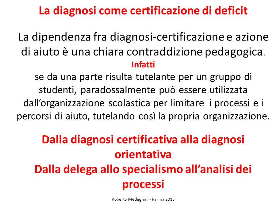 La diagnosi come certificazione di deficit