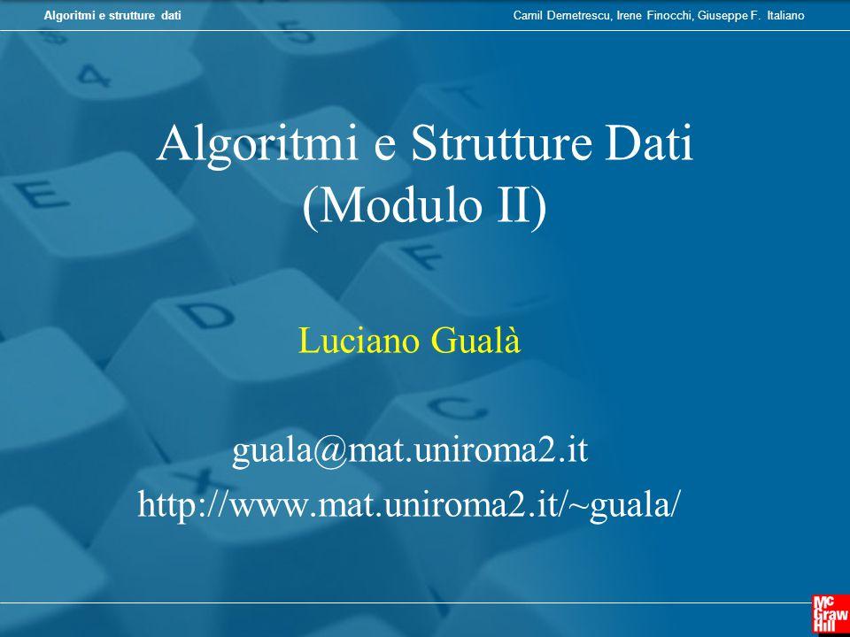 Algoritmi e Strutture Dati (Modulo II)