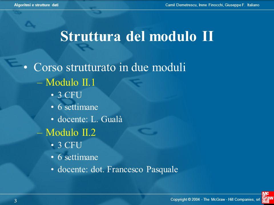 Struttura del modulo II