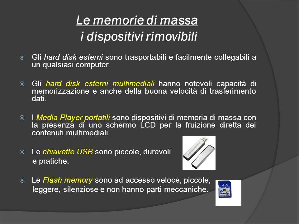 Le memorie di massa i dispositivi rimovibili