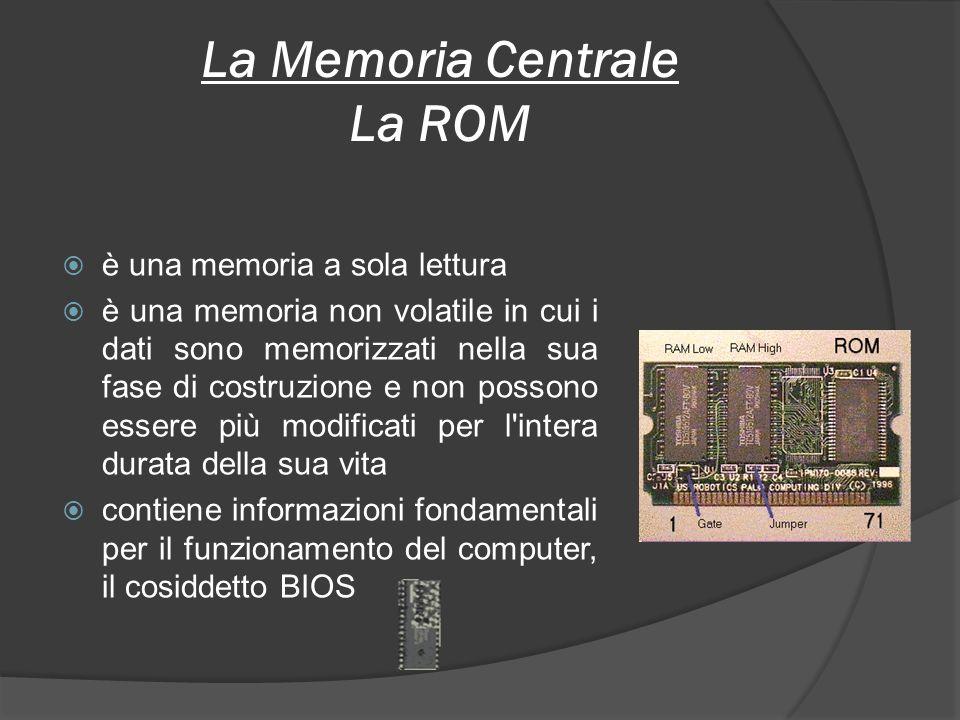 La Memoria Centrale La ROM