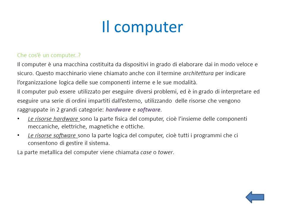 Il computer Che cos'è un computer..
