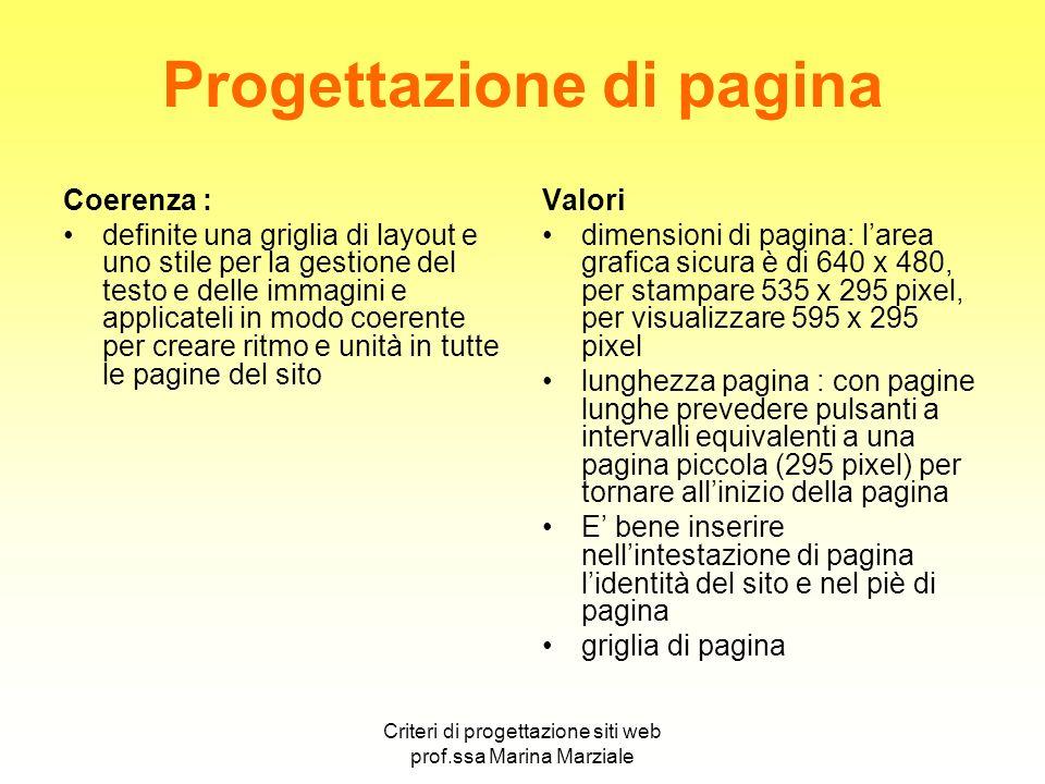 Progettazione di pagina