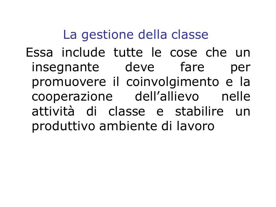 La gestione della classe