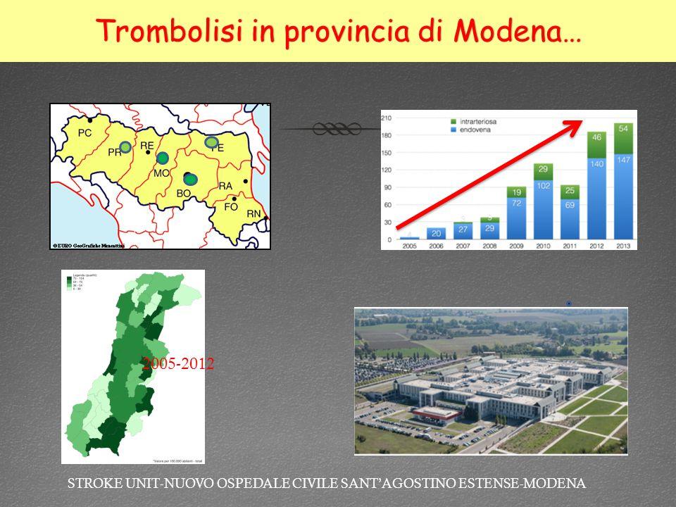 Trombolisi in provincia di Modena…