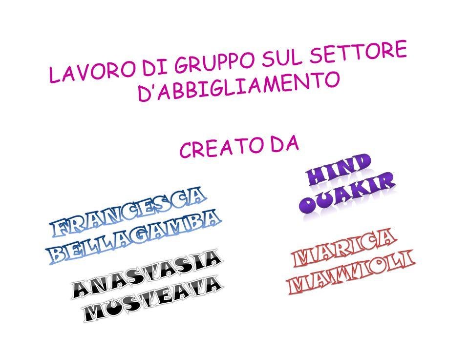 LAVORO DI GRUPPO SUL SETTORE D'ABBIGLIAMENTO CREATO DA