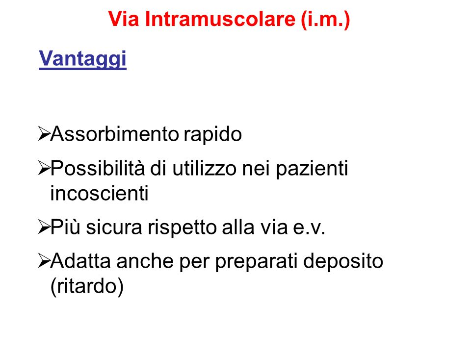 Via Intramuscolare (i.m.)