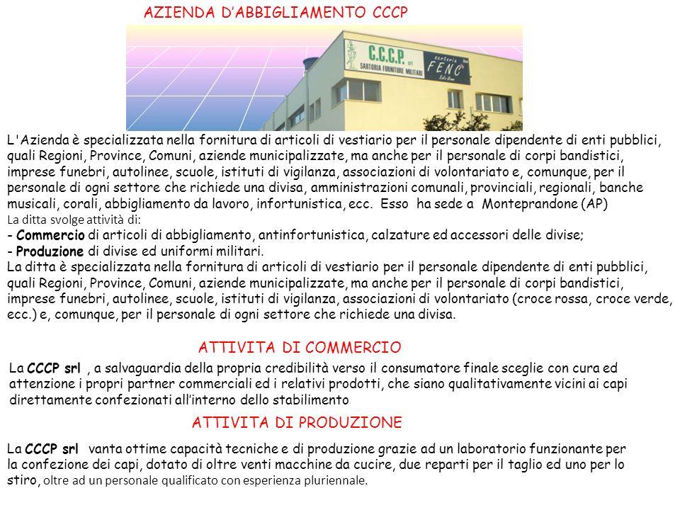 AZIENDA D'ABBIGLIAMENTO CCCP