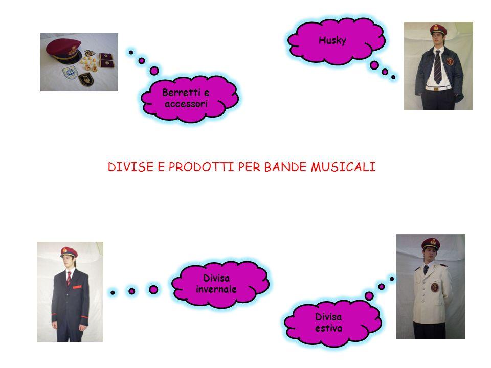 DIVISE E PRODOTTI PER BANDE MUSICALI