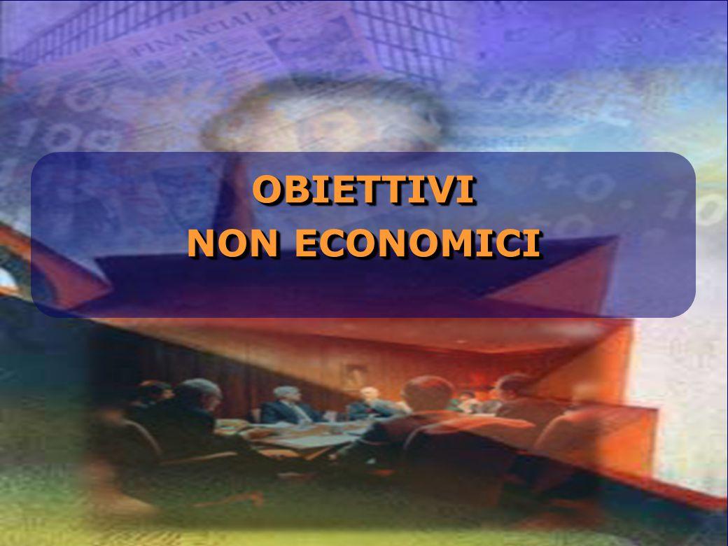OBIETTIVI NON ECONOMICI