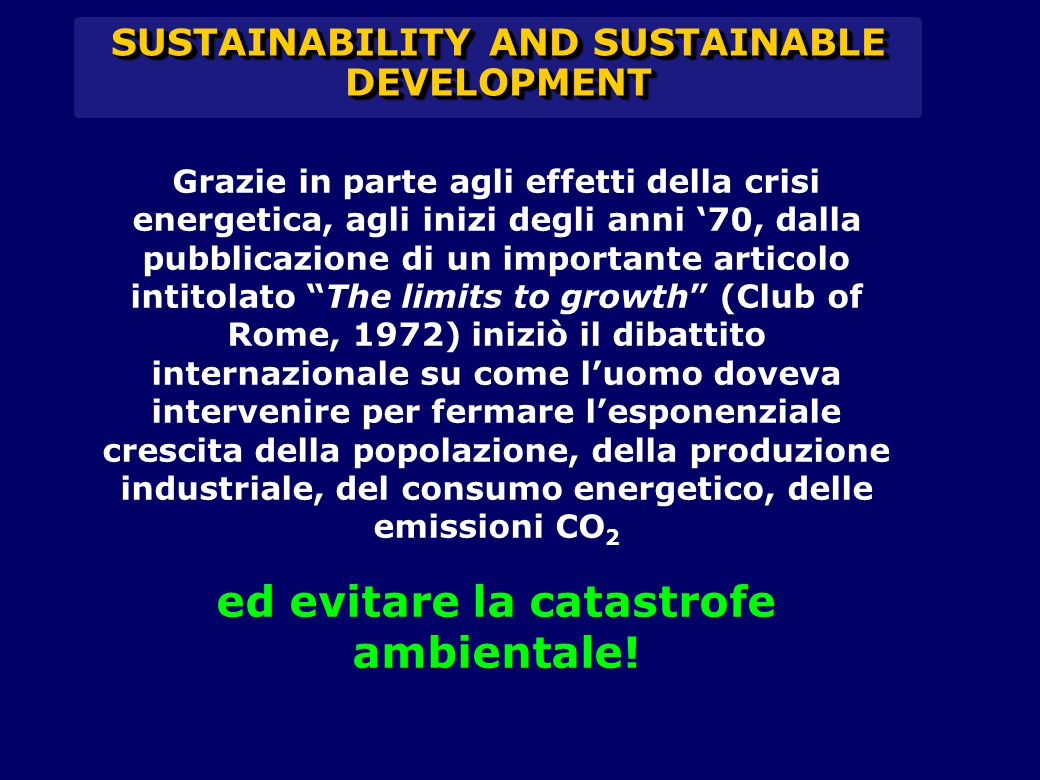 SUSTAINABILITY AND SUSTAINABLE DEVELOPMENT