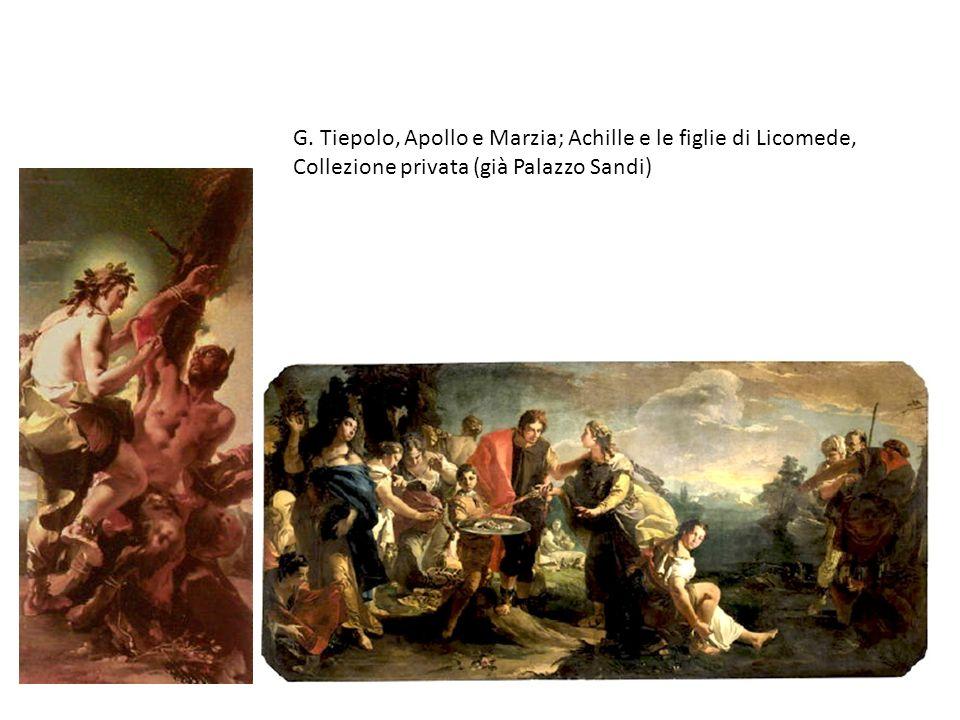 G. Tiepolo, Apollo e Marzia; Achille e le figlie di Licomede, Collezione privata (già Palazzo Sandi)