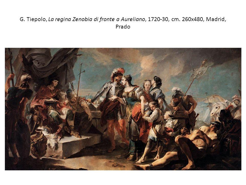 G. Tiepolo, La regina Zenobia di fronte a Aureliano, 1720-30, cm