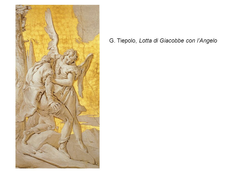 G. Tiepolo, Lotta di Giacobbe con l'Angelo