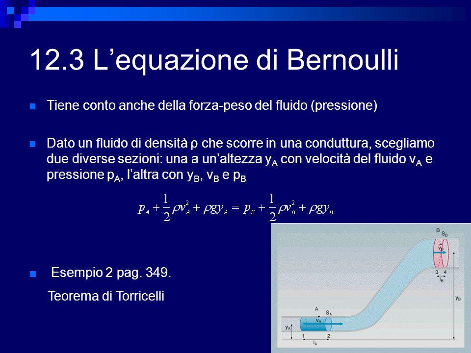 12.3 L'equazione di Bernoulli