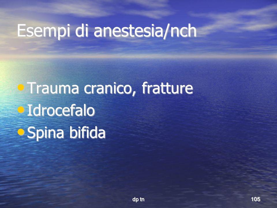 Esempi di anestesia/nch