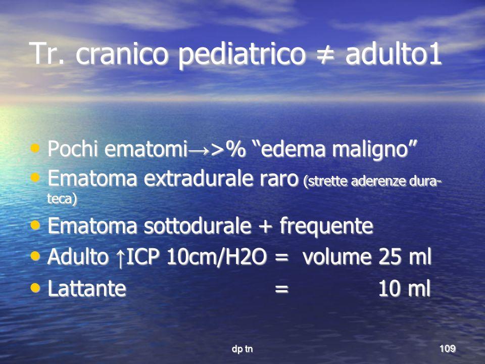 Tr. cranico pediatrico ≠ adulto1