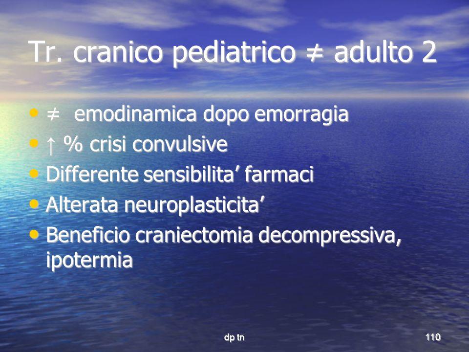 Tr. cranico pediatrico ≠ adulto 2