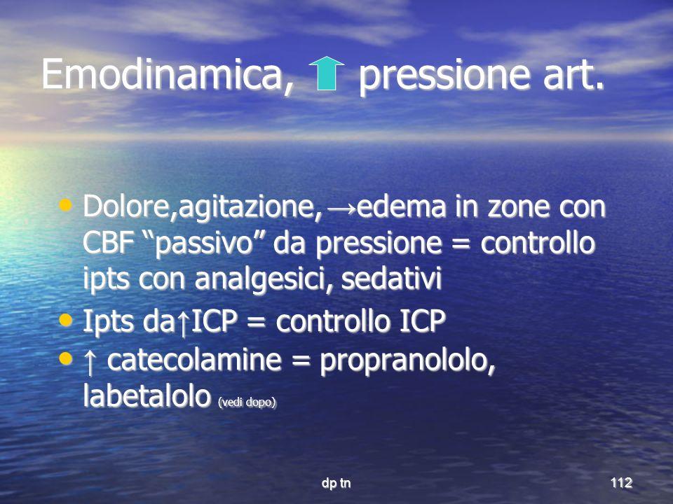 Emodinamica, pressione art.