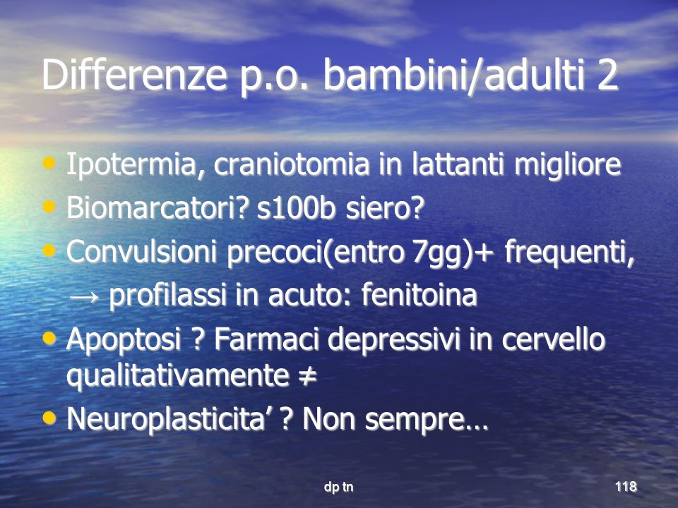 Differenze p.o. bambini/adulti 2