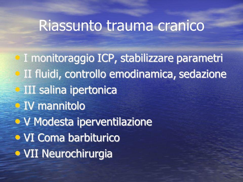 Riassunto trauma cranico