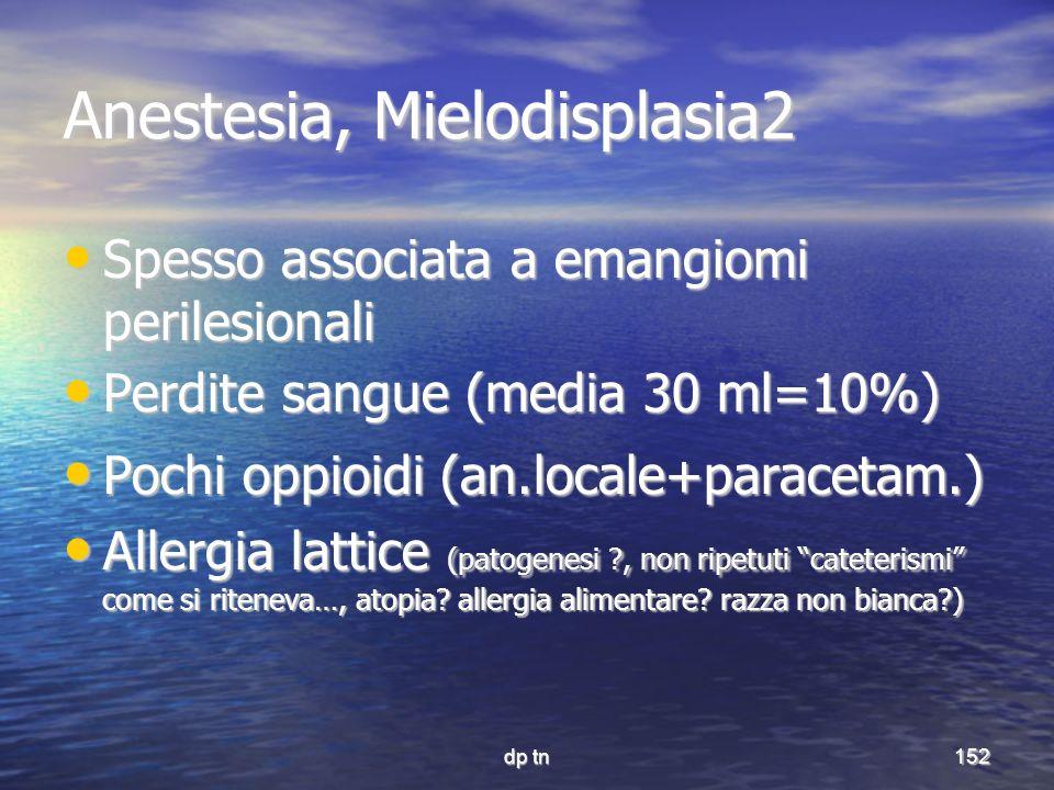 Anestesia, Mielodisplasia2