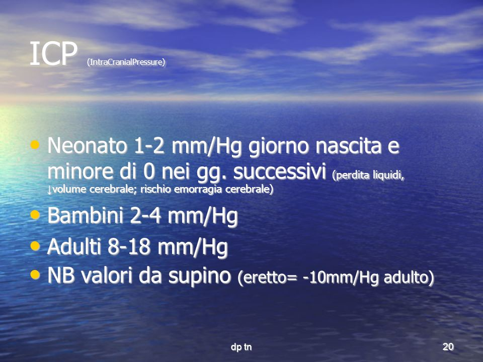 ICP (IntraCranialPressure)‏