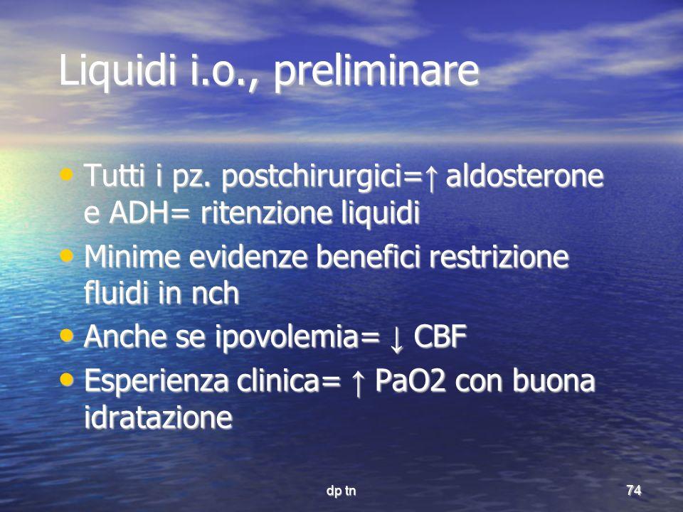 Liquidi i.o., preliminare