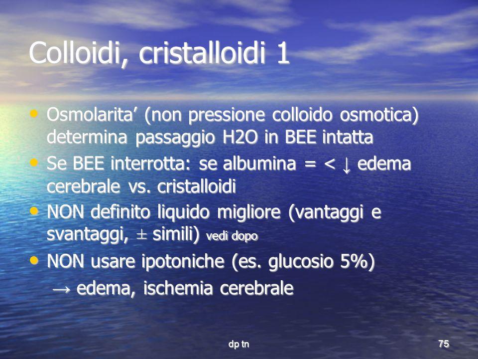 Colloidi, cristalloidi 1