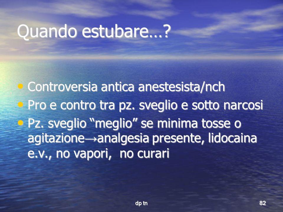 Quando estubare… Controversia antica anestesista/nch