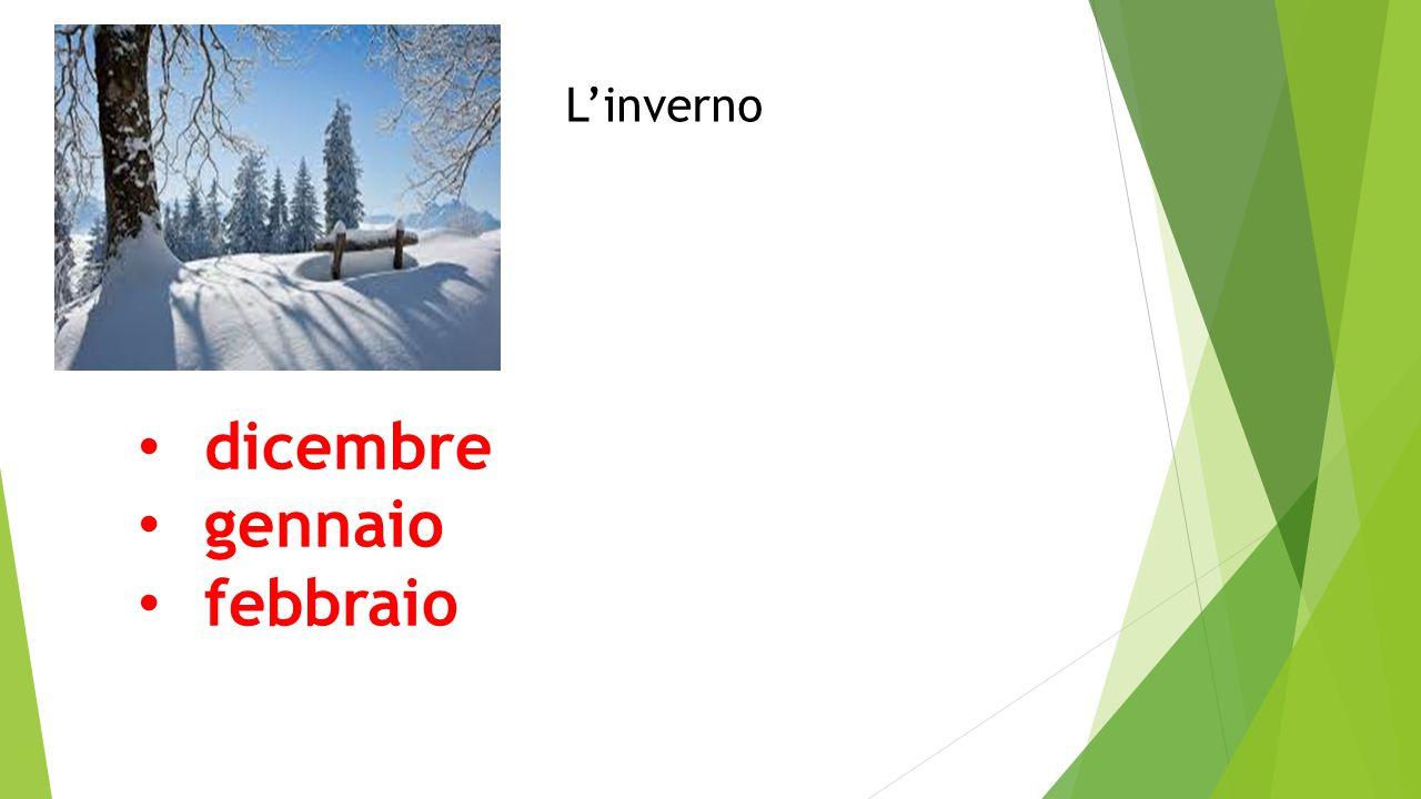 L'inverno dicembre gennaio febbraio