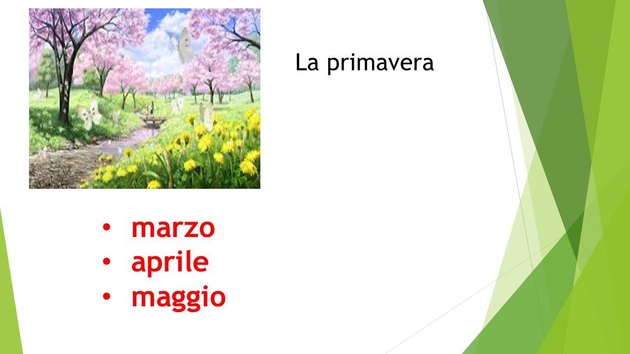 La primavera marzo aprile maggio