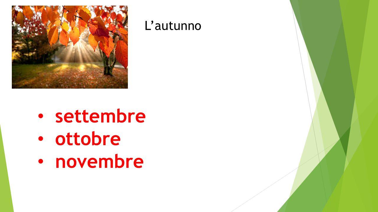 L'autunno settembre ottobre novembre