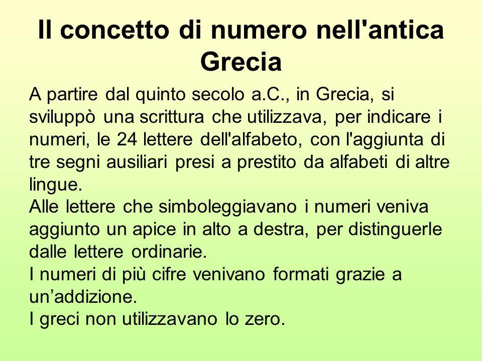 Il concetto di numero nell antica Grecia