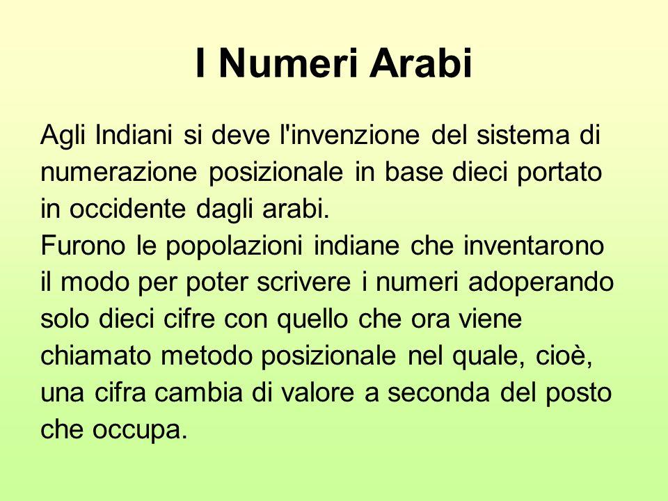 I Numeri Arabi Agli Indiani si deve l invenzione del sistema di