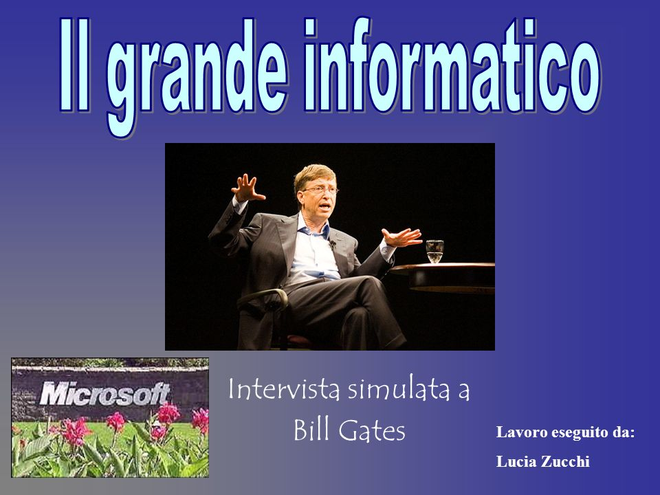 Intervista simulata a Bill Gates