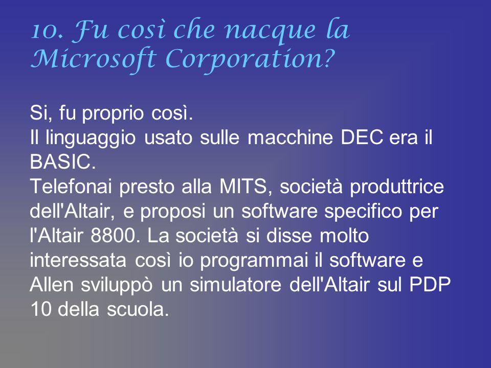 10. Fu così che nacque la Microsoft Corporation