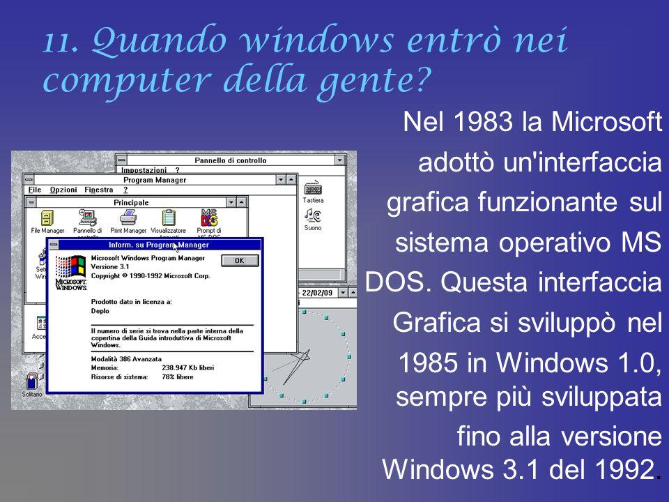 11. Quando windows entrò nei computer della gente