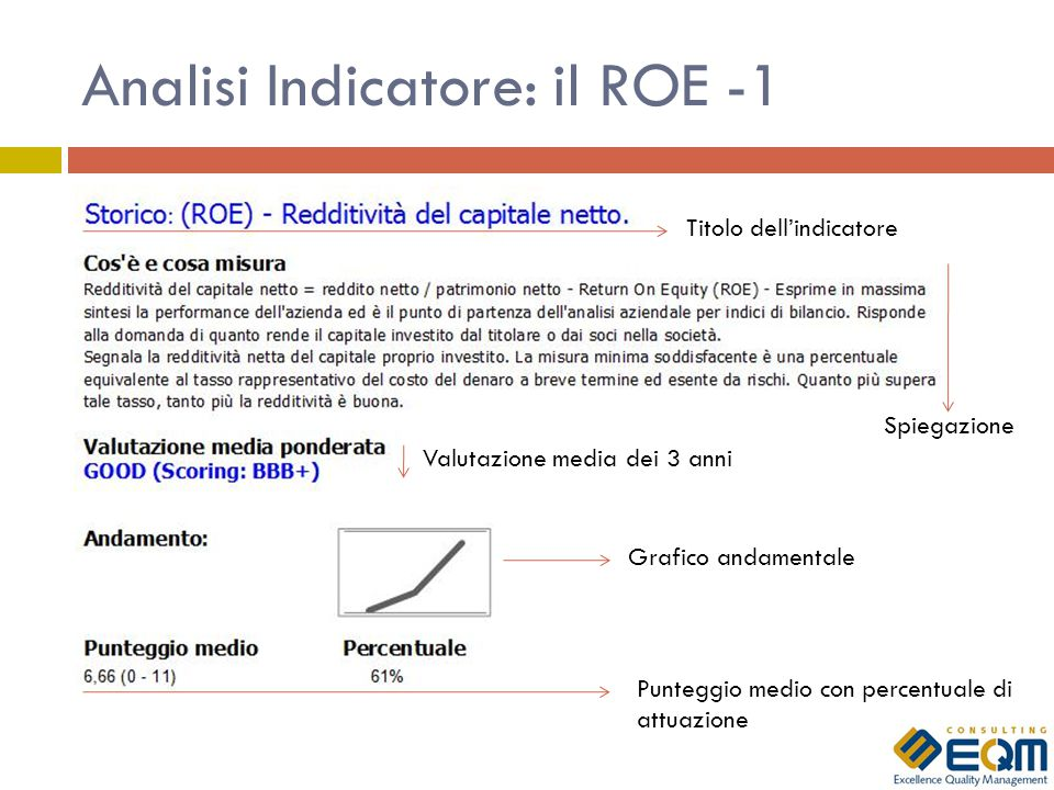 Analisi Indicatore: il ROE -1