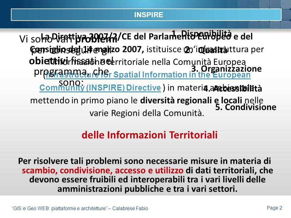 delle Informazioni Territoriali