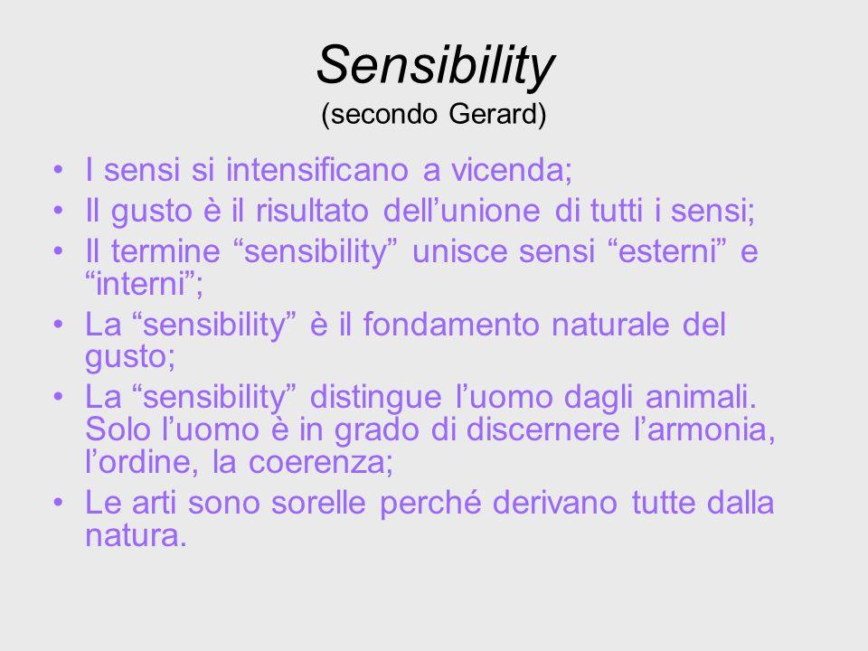 Sensibility (secondo Gerard)