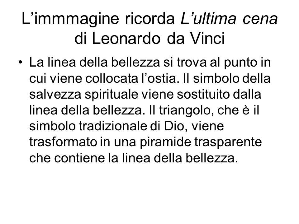 L'immmagine ricorda L'ultima cena di Leonardo da Vinci