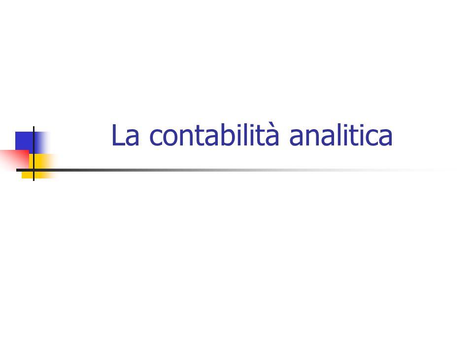 La contabilità analitica