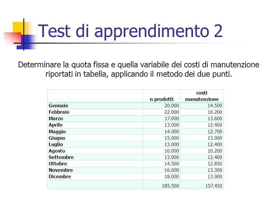 Test di apprendimento 2