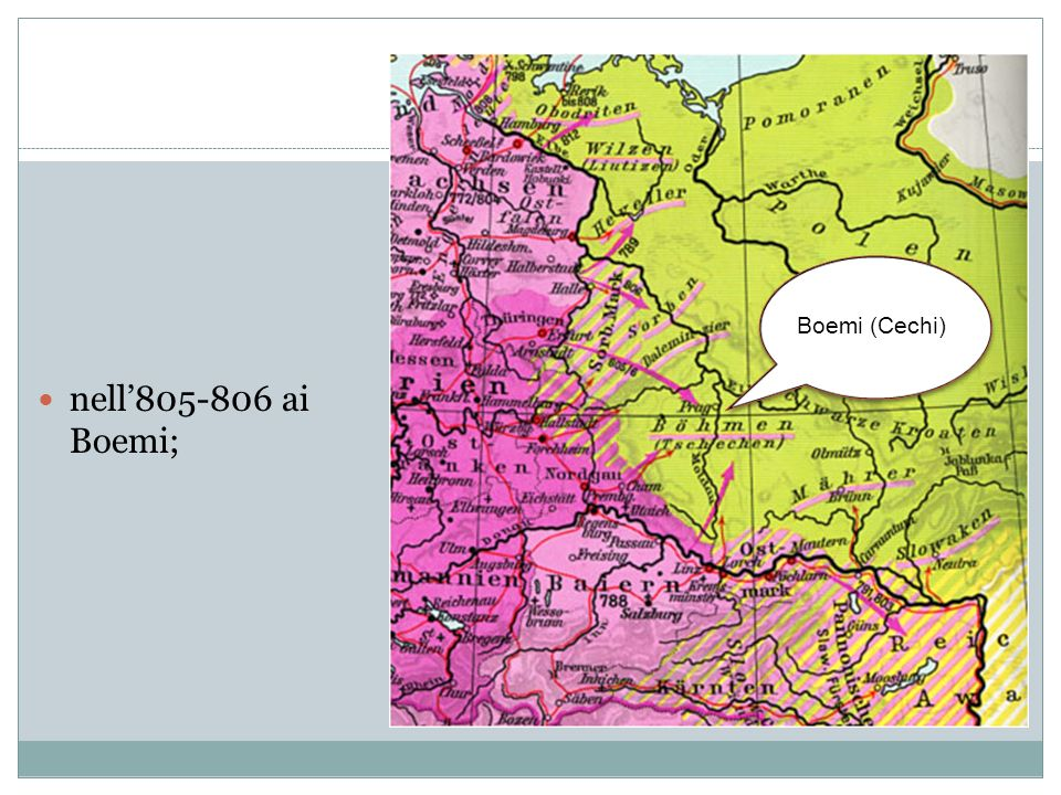 Boemi (Cechi) nell'805-806 ai Boemi;
