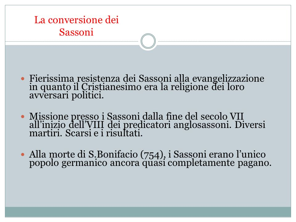 La conversione dei Sassoni