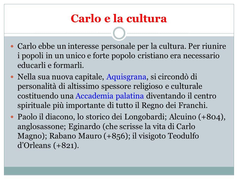 Carlo e la cultura